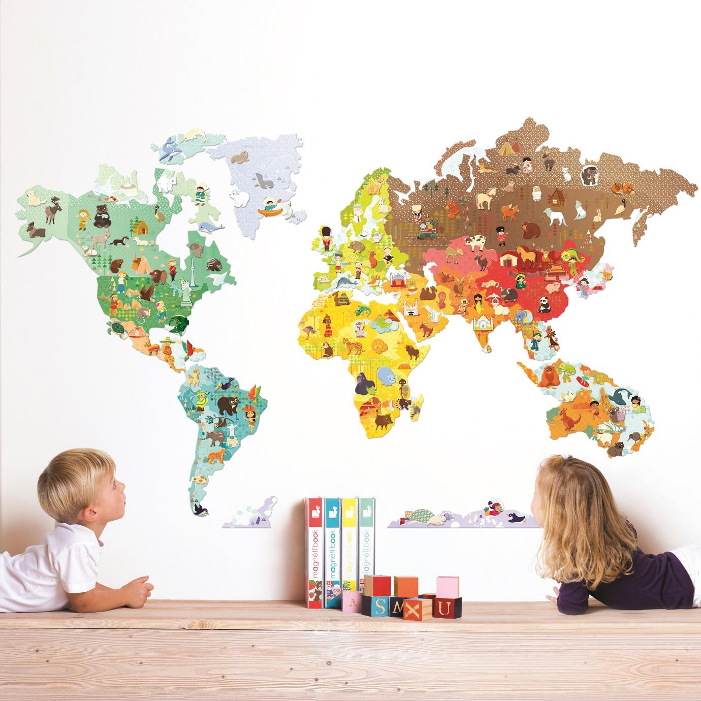 Naljepnica S Magnetima Karta Svijeta